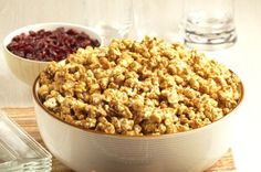 Healthy, Homemade Caramel Popcorn Recipe: A perfect game day treat! #superbowl