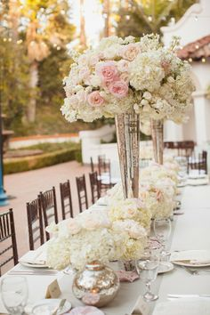 For long table set up: The Best Wedding Centerpieces of 2013 | bellethemagazine.com