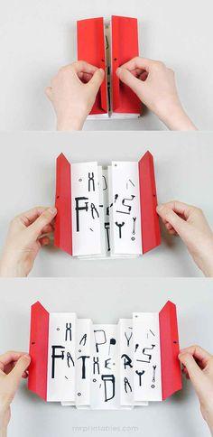 A 3-D tool box card.