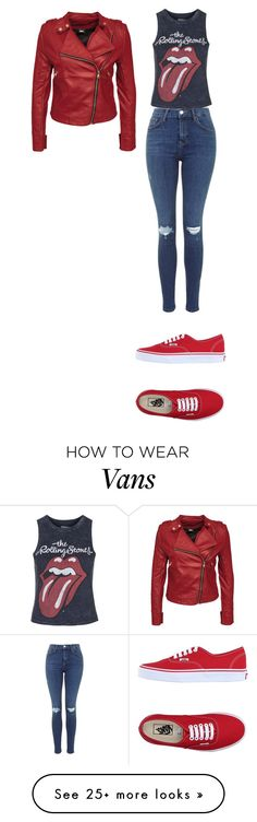 """""""we red"""" by rb-originals on Polyvore featuring Topshop and Vans"""