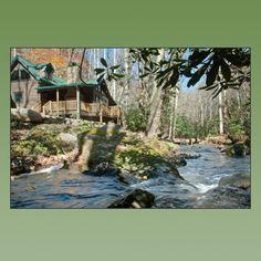My ideal honeymoon spot. Creekside cabin in North Carolina.