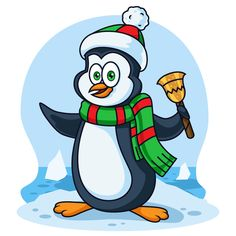 Free Penguin Illustration | Pixaroma | We extract aroma from pixels.