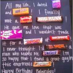 Cute Idea My Friend Made This For Her Boyfriends Birthday Bf Gifts
