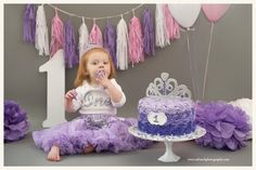 Cake smash Photography ideas, First birthday, purple and pink tassels theme, South Jersey Photographer, www.salwachphotography.com