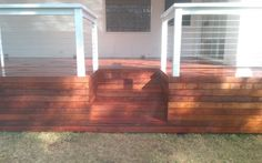 merbau Decking, Stairs, deck, timber stairs, carpentry, garden, home, house, balcony, handrail, diy, D.I.Y, stainless steel wire, stainless ballustrade, wire ballustrade, wire hand rail,