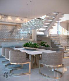 Home Room Design, Home Design Decor, Dream Home Design, Interior Design, Home Decor, Home Spa Room, Model House Plan, Dinner Room, Mansion Interior