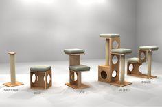 Arbres à chat design en bois Titicatz, fabriqués en France – Arbres à chat français, design, solides, durables, 100% bois massif