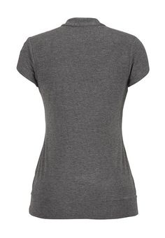 banded bottom ruffle front tee - maurices.com size medium