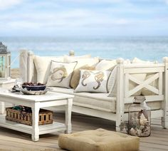 Love the look of the daybed/sofa from Pottery Barn, and it's perfect for a certain daughter -- @M G -- that's dying to sleep in the gazebo.