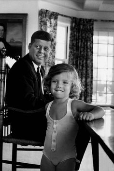 Caroline Kennedy with her dad :)