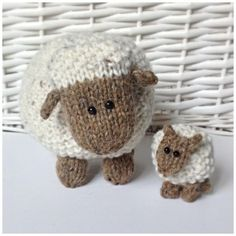 Top 10 sheep knitting patterns - Moss the Sheep by Amanda Berry available to…