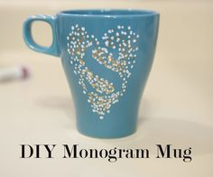 """I have a family of friends who all love Coffee! Even the littlest of them at age 3. I love to find ways to give them personalized gifts, especially since they all have very unique names. So I made these mugs for them for Christmas. What I like best about them is the precision of the letterforms. Using a """"trick"""" the monograms are all perfect even though the art is hand rendered."""