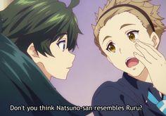 Shousuke seems to be the only one close to guessing Ruru's secret ~ Musaigen no Phantom World Musaigen No Phantom World, Kyoto Animation, Anime Shows, Colors, Anime Art, Cartoon Movies, Colour, Color, Anime