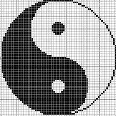 Yin yang cross stitch pattern