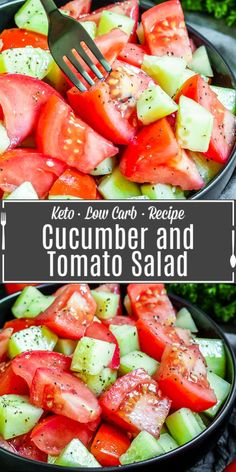 Cucumber and Tomato Salad Recipe | Home. Made. Interest.