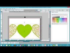 tuto créer une carte en forme de coeur avec silhouette cameo - YouTube