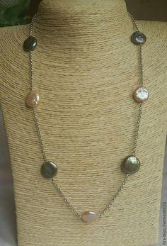 Купить Ожерелье с барочным жемчугом микс - серый, жемчуг натуральный, жемчужный, ожерелье из жемчуга