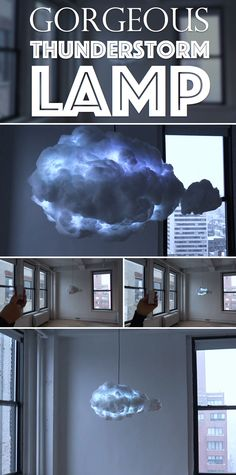 Bring A Gorgeous Thunderstorm To Your Space With This Amazing Cloud Lamp