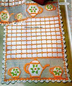 Crochet+y+dos+agujas:+Mantel+individual+tejido+al+crochet