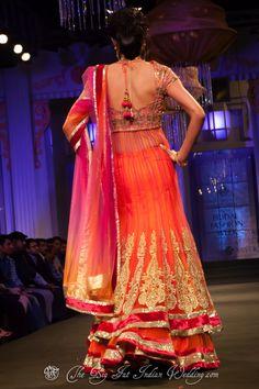 Ombre lengha   Jyotsna Tiwari Aamby Valley India Bridal Fashion Week