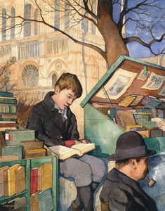 Chad Gowey Illustration. The Booksellers Son.