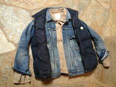 visvimulator:  VIS 101 Jacket TI, Escultura Social 101 jaqueta (dano 8 Ráfia), Montcler V colete para baixo