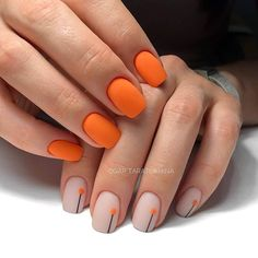 The best new nail polish colors and trends plus gel manicures, ombre nails, and nail art ideas to try. Get tips on how to give yourself a manicure. Stylish Nails, Trendy Nails, Cute Nails, Orange Nails, Pink Nails, My Nails, Orange Nail Art, Orange Nail Designs, Happy Nails