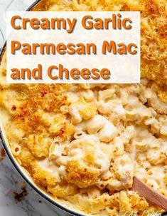 Garlic Mac And Cheese Recipe, Gourmet Mac And Cheese, Creamy Macaroni And Cheese, Macaroni Cheese Recipes, Mac And Cheese Homemade, Garlic Recipes, Pork Recipes, Veggie Recipes, Pasta Recipes