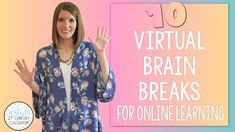 Virtual brain breaks to get students up and moving during online learning! #vestals21stcenturyclassroom #brainbreaks #brainbreaksforstudents #virtualbrainbreaks #upperelementarygames #virtuallearning #remotelearning #onlinelearning