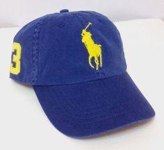 0fca7997e9e New POLO RALPH LAUREN HAT Dark Blue Yellow Pony 3 MCMLXVII 1967 Men Women  Cotton  PoloRalphLauren  BaseballCap