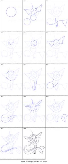 Vaporeon is a great character from an animated cartoon game Pok?mon which is a very famous game series of media franchise owned by The Pok?mon Company and created by Satoshi Tajiri.If you want to draw Pokemon Sketch, Draw Pokemon, Pokemon Painting, Doodle Tattoo, Drawing Sheet, Pokemon Pokedex, Animation Tutorial, Doodle Inspiration, Animated Cartoons