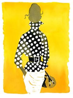 Illustrator Eduard Erlikh has enjoyed much recognition for his signature fashion figures.