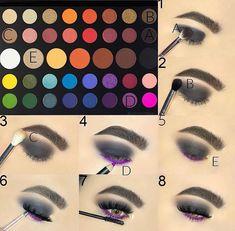 Gorgeous Makeup: Tips and Tricks With Eye Makeup and Eyeshadow – Makeup Design Ideas Eye Makeup Steps, Makeup Eye Looks, Smokey Eye Makeup, Cute Makeup, Makeup Set, Beauty Makeup, Awesome Makeup, Prom Makeup, Perfect Makeup