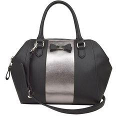 Liz Claiborne Casey Satchel ($45) ❤ liked on Polyvore featuring bags, handbags, liz claiborne, satchel style purse, liz claiborne handbags, handbag satchel and satchel handbags