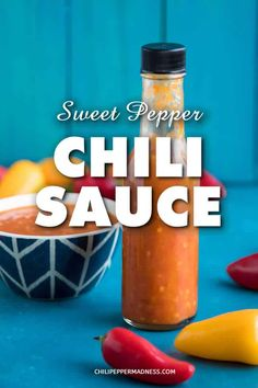 A recipe for homemade chili sauce made with fermented garden-grown sweet peppers. It's like a mild, richly flavored hot sauce. Dash it over everything! Mild Hot Sauce Recipe, Chili Sauce Recipe Canning, Homemade Chili Sauce, Hot Sauce Recipes, Canning Recipes, Chimichurri, Sauce Carbonara, Vodka, Bolognese