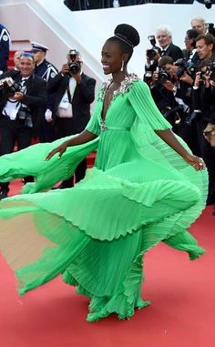 Lupita looking stunning in green!