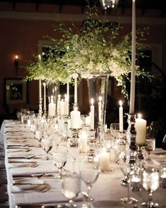 rectangular table settings wedding - Google Search