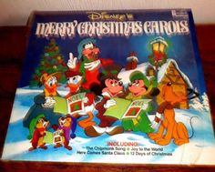 DISNEY'S MERRY CHRISTMAS CAROLS // 1980 DISNEYLAND RECORDS LP 2514