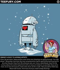 I love this little robot, and I love the fact that TeeFury is focusing on female artists this week. Bravo, TF!