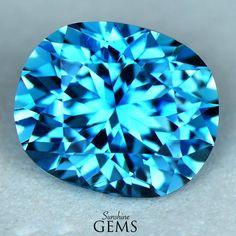 4.36ct Blue Zircon MJ6581 $845