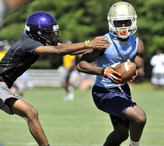 A Daniel receiver makes his way downfield at the Byrnes 6th Annual Palmetto State Showdown 7-on-7 in Duncan on Friday, June 14, 2013.