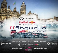 Red Bull F1 Showrun Mexico City.