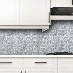 Adhesive Tile Backsplash, Peel Stick Backsplash, Backsplash Panels, Peel And Stick Tile, Stick On Tiles, Hex Tile, Mosaic Tiles, Dip, Small Room Decor