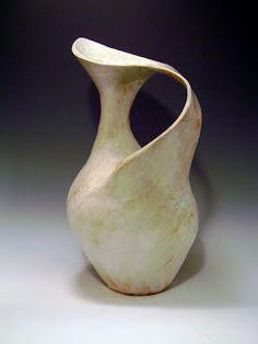 *Salt/Soda Fired - Pamela Church jug. Soooo gorgeous. Maybe I can do a mug handle like this?