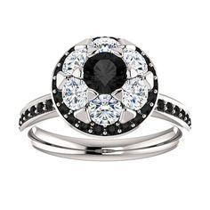Engagement Ring Diamond Ring Black Diamond Engagement by JPoliseno, $2000.00