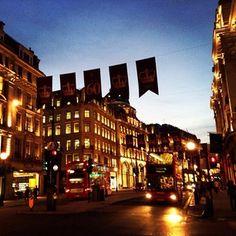 Golden Dusk #sunset #dusk #regentstreet #london #england #uk #architecture #design #heritage #buildings #golden #streetlights #streetlife #roads #citylife #nightlife #buses #transport #igersuk  #igerslondon #instatravel #instagood by @digitalyeti