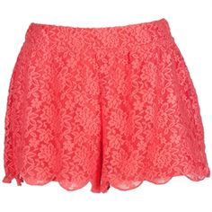Make sure they are not too short though for recruitment!  Free People Women's Contemporary Textured Stretch Lace Scalloped Hem Short #VonMaur