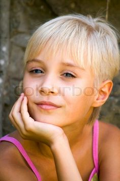 Stock image of 'Summer vacation, portrait of childhood'