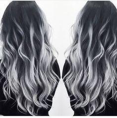 grey hair, hairstyle