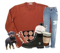 """""""Puppy bowl"""" by johnstonemma ❤ liked on Polyvore featuring River Island, Natio, philosophy and Timberland"""